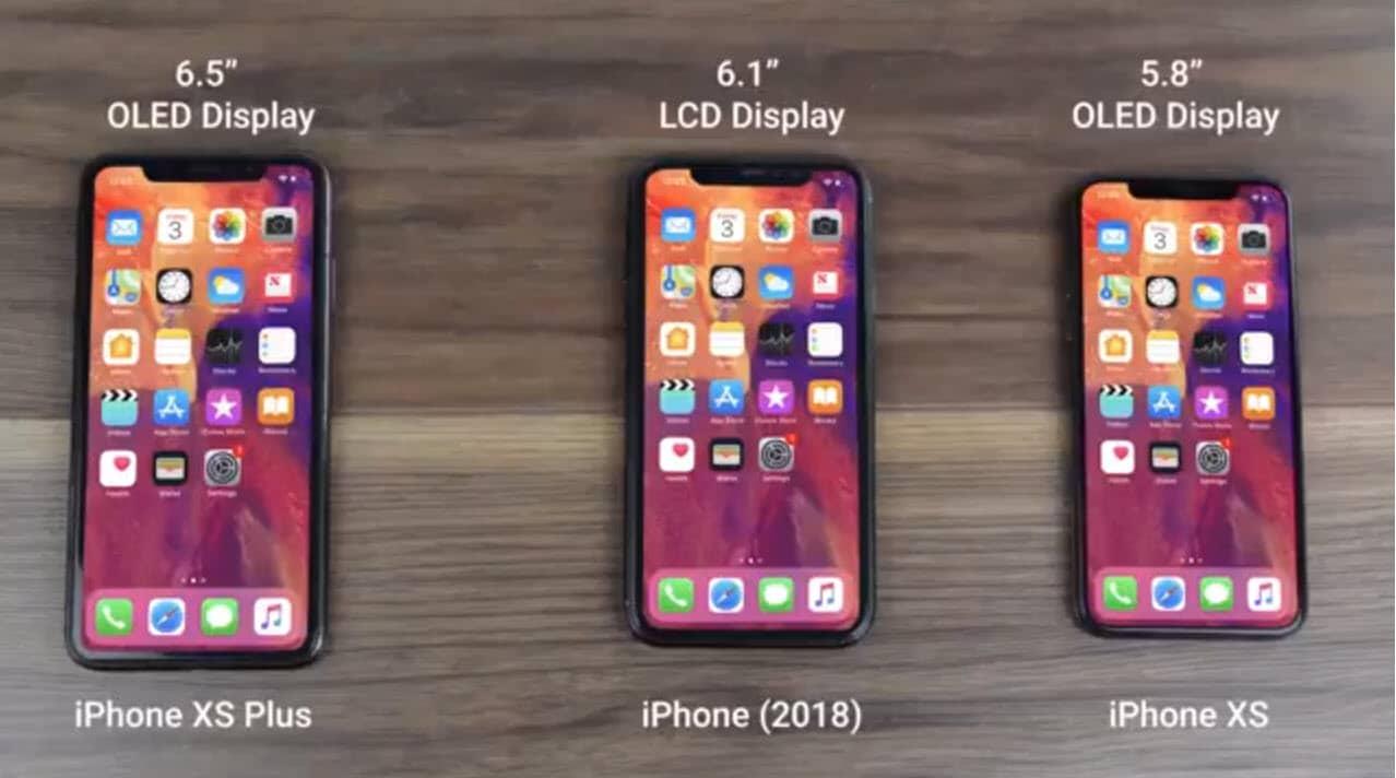 Un vídeo muestra los detalles de los iPhone del 2018